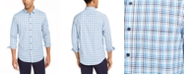Club Room Men's Regular-Fit Quick-Dry Performance Stretch Plaid Shirt, Created For Macy's