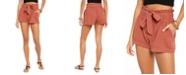 Rewash Juniors' Tie-Waist Gauze Shorts