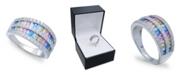 Macy's Cubic Zirconia Triple-Row Baguette Ring (2-1/8 ct. t.w) In Sterling Silver