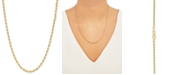 """Macy's Rope 20"""" Chain Necklace in 18k Gold-Plated Sterling Silver"""