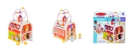 "Melissa and Doug Melissa Doug First Play Slide, Sort Roll Wooden Activity Barn with Bead Maze, 6 Wooden Play Pieces 11.75"" x 11.75"" x 20"" Assembled"
