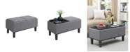 Convenience Concepts Designs4Comfort Brentwood Storage Ottoman