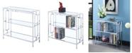 Convenience Concepts Town Square Chrome 3 Tier Bookcase