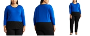 Lauren Ralph Lauren Plus-Size Color-Blocked Sweater