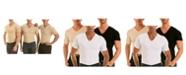 Instaslim Insta Slim Men's 3 Pack Compression Short Sleeve V-Neck T-Shirts
