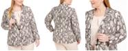 Nine West Plus Size Printed One-Button Blazer