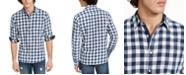 Sun + Stone Men's Washed Banarama Check Shirt, Created for Macy's