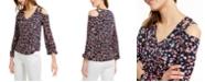 Michael Kors Embellished Cold-Shoulder Top