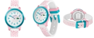 Lacoste Kid's Swiss 12.12 White & Pink Silicone Strap Watch 32mm