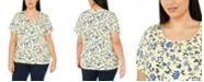 Karen Scott Plus Size Printed Scoop-Neck T-Shirt, Created for Macy's