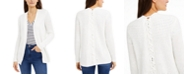 INC International Concepts INC Petite Lace-Up Cardigan, Created for Macy's
