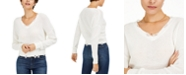 Bar III Distressed V-Neck Cotton Sweater, Created for Macy's