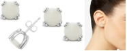 Macy's Opal (1-5/8 ct. t.w.) Stud Earrings in Sterling Silver