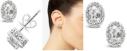 Macy's White Topaz (1-1/8 ct. t.w.) and Diamond Accent Stud Earrings in Sterling Silver