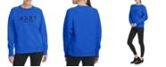 DKNY Sport Flocked-Logo Sweatshirt