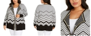 Belldini Plus Size Chevron Cardigan
