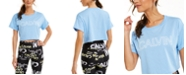 Calvin Klein Outline-Logo Cropped T-Shirt