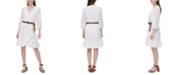 Calvin Klein Embroidered Faux-Wrap Dress