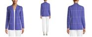 Anne Klein Windowpane Malibu Cardigan Sweater