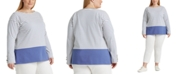 Lauren Ralph Lauren Plus-Size Striped Cotton Jersey Top