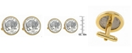 American Coin Treasures 2005 Bison Nickel Bezel Coin Cuff Links