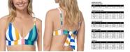 Raisins Juniors' Beach Please Anya Striped Bikini Top