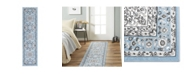"""Global Rug Designs Haven Lane Hal06 Mist 1'8"""" x 7'2"""" Runner Rug"""