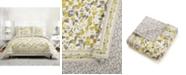 Vera Bradley Hummingbird Blooms Yellow Quilted Bedding