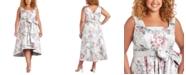 R & M Richards Plus Size High-Low Jacquard Dress