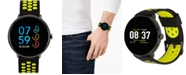 iTouch Men's Sport Black & Yellow Silicone Strap Touchscreen Smart Watch 43.2mm