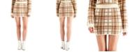 WYNTER Plaid Sweater Mini Skirt
