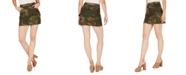 Numero Cotton Camo-Print Cargo Skirt