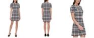 Tommy Hilfiger Houndstooth-Print A-Line Dress