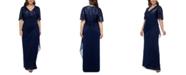 XSCAPE Plus Size Sequined A-Line Gown