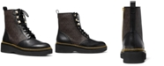 Michael Kors Haskell Combat Lug Sole Boots