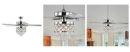 """Home Accessories Jay 52"""" 3-Light Indoor Remote Controlled Ceiling Fan with Light Kit"""
