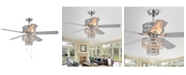 """Home Accessories Chow 52"""" 6-Light Indoor Hand Pull Chain Ceiling Fan with Light Kit"""