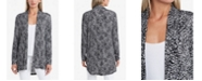 Vince Camuto Women's Open Front Iced Leopard Printed Cardigan
