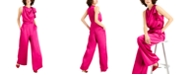 INC International Concepts INC Draped Neck Satin Jumpsuit, Created for Macy's