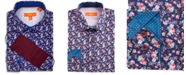 Tallia Receive a FREE Face Mask with purchase of the Tallia Men's Slim-Fit Performance Stretch Floral-Print Dress Shirt