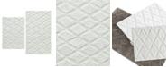 Vera Wang Tufted Diamond Reversible Bath Rug, Set of 2