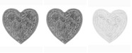 "Home Weavers Bellflower 25"" x 25"" Heart Bath Rug"