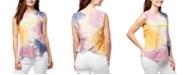 WILLIAM RAST Jayden Tie-Dyed Tulip-Back Graphic Top