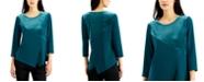 Alfani Velvet-Overlay Asymmetrical Top, Created for Macy's