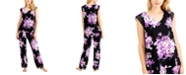 Charter Club Printed Lace-Trim Pajamas Set, Created for Macy's