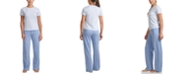Tommy Hilfiger Striped T-Shirt & Solid Pants Loungewear Set
