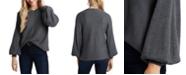 1.STATE Rib-Knit Bubble Sleeve Sweater