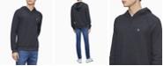 Calvin Klein Men's Monogram Logo Raglan Sleeve Hoodie