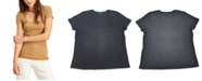 INC International Concepts INC Plus Size Square-Neck Ribbed Top, Created for Macy's
