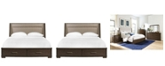 Furniture Monterey Upholstered Storage Queen Bed, Created for Macy's